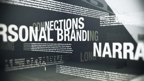 Personal Branding Related Terms Seamless Looping Animation Animation