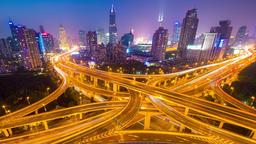 Shanghai city transportation Footage