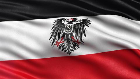 German Empire flag seamless loop Animation