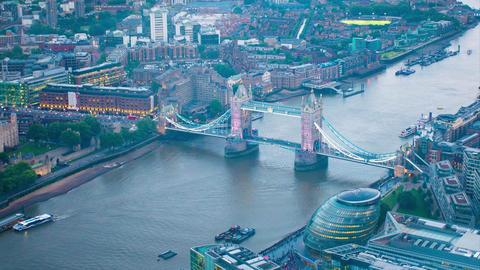 Aerial London tower brige Footage