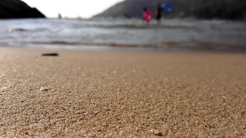 Ocean wave on sandy beach Footage