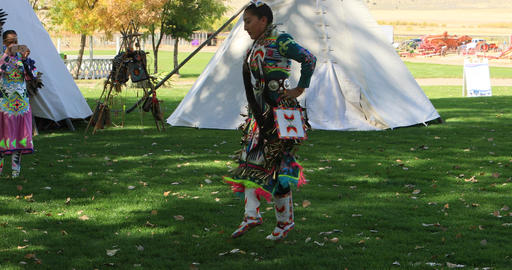 Female Native American dancer dance and music DCI 4K 581 Footage