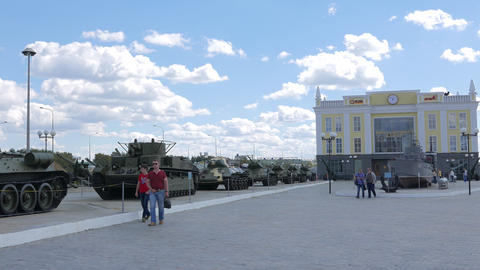 Museum of military equipment Battle Glory of the Urals, Pyshma, Ekaterinburg, Ru Footage