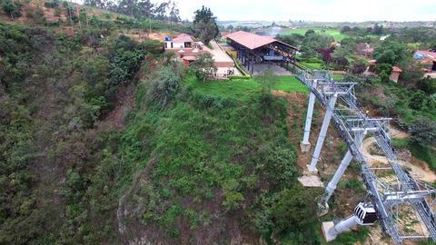 Chicamocha Aerial Tram Station Footage