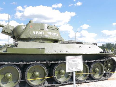 The average tank T-34-76 mod. 1942 - Ural for front. Pyshma, Ekaterinburg, Russi Footage