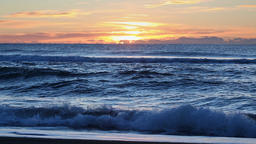 Morning view of Pacific Ocean waves Footage