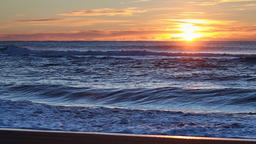 Beautiful view of sunrise over Pacific Ocean Footage