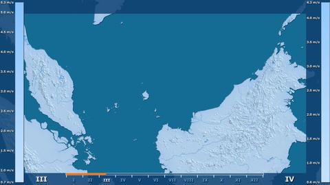 Malaysia - wind speed, raw data Animation