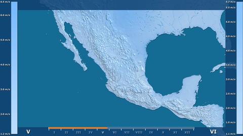 Mexico - wind speed, raw data Animation
