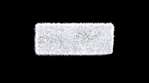 Ice forming frost rectangle reveal animation with separate alpha channel logo2 Animation