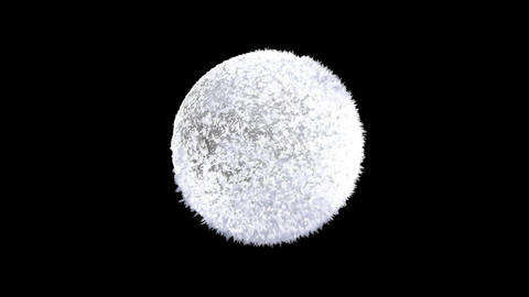 Ice forming frost sphere reveal animation with separate alpha channel logo3 Animation