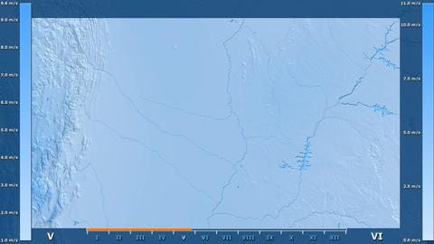 Paraguay - wind speed, raw data Animation