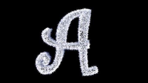 Ice forming frost text typography animation with separate alpha channel A Animation