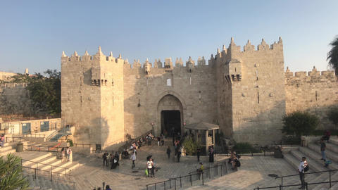Jerusalem, Israel - October 20, 2019: tourists move to the historic sites of the Live Action