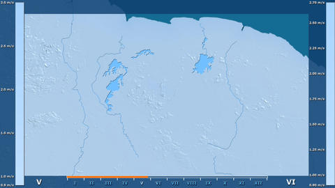 Suriname - wind speed, raw data Animation