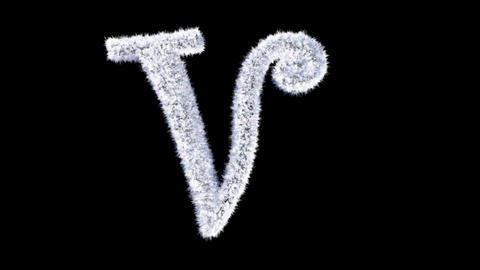 Ice forming frost text typography animation with separate alpha channel V Animation