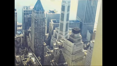 NEW YORK 1975: New York seen from above in the mid 70's 17 Live Action