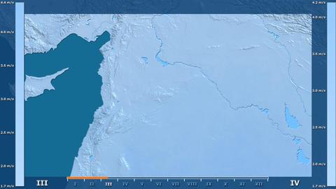 Syria - wind speed, raw data Animation