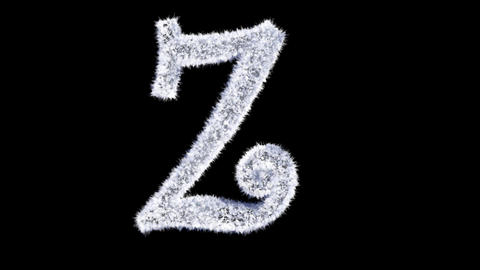Ice forming frost text typography animation with separate alpha channel Z Animation