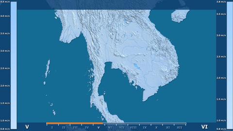 Thailand - wind speed, raw data Animation
