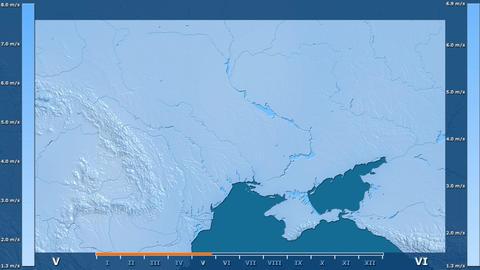 Ukraine - wind speed, raw data Animation