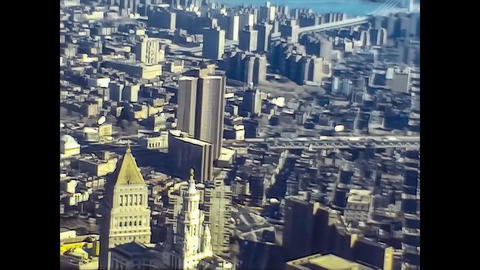 NEW YORK 1975: New York seen from above in the mid 70's 18 Live Action