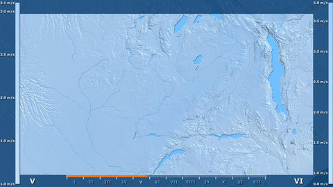 Zambia - wind speed, raw data Animation