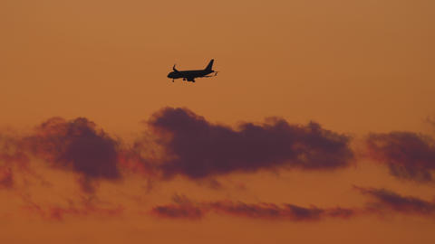 Final approach at sunset Live Action