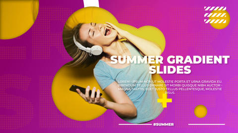 Summer Gradient Slides Plantilla de After Effects