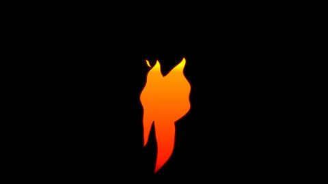 Vector Flat Cartoon flame text typography animation loop with alphaT Animation