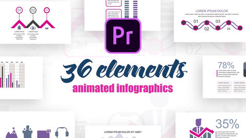 Infographics MOGRT vol.37 Motion Graphics Template