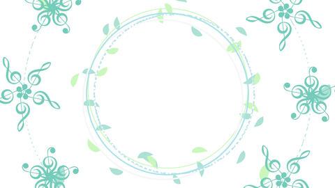 Circular Flowing - Leaf / G Clef Flower CG動画