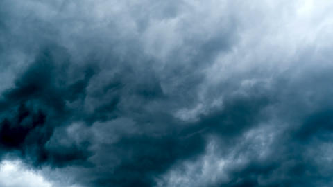 Dark storm clouds.Dramatic sky,climate change,summer tempest,weather timelapse Live Action