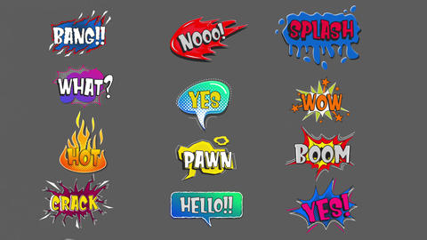 Comic Speech Bubbles 2 0 After Effects Template