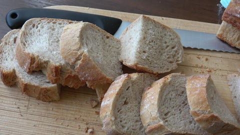 Homemade bread.Delicious freshly baked bread Live Action