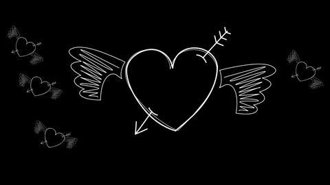 Animation drawn hearts Animation