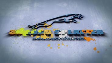 3D Logo Splatter After Effects Project