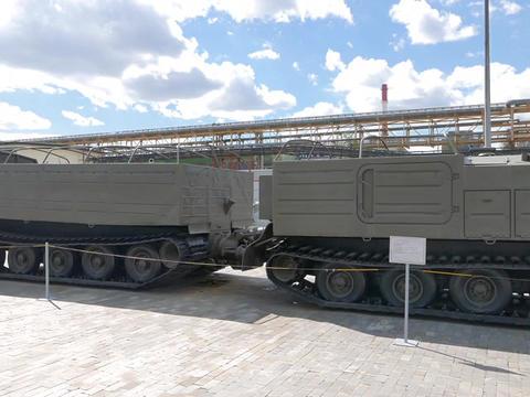 Terrain vehicle Tractor DT-10P 'Vityaz'. Pyshma, Ekaterinburg, Russia Footage
