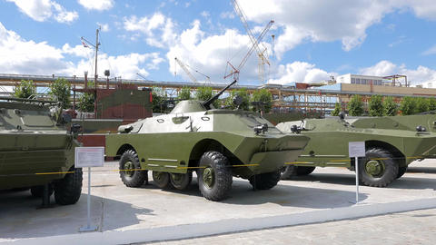 Armored personnel carriers. Pyshma, Ekaterinburg, Russia Footage