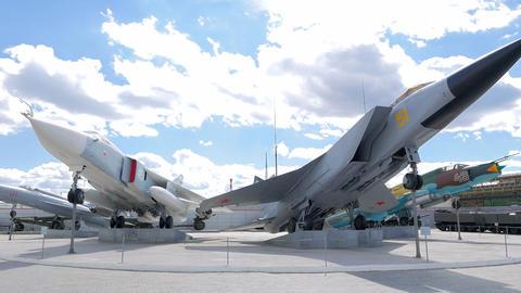 Military aviation. MiG-31. Pyshma, Ekaterinburg, Russia Footage