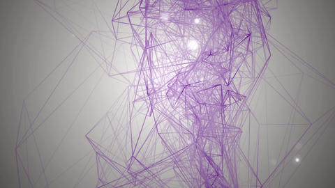 Geometric element evolving, motion background Animation