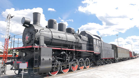 Evacuation train. Pyshma, Ekaterinburg, Russia Footage