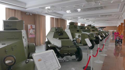 Vintage armored cars. Pyshma, Ekaterinburg, Russia Footage