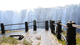 The Victoria Falls from Zambia side ビデオ