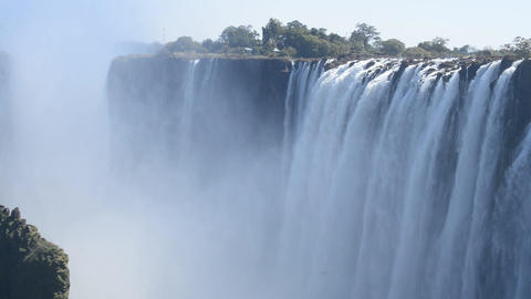 The Victoria Falls from Zambia side Filmmaterial