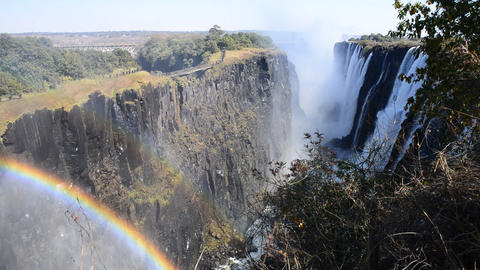 The Victoria Falls from Zambia side GIF