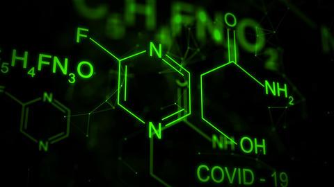 Favipiravir Chemical formula animation CG動画