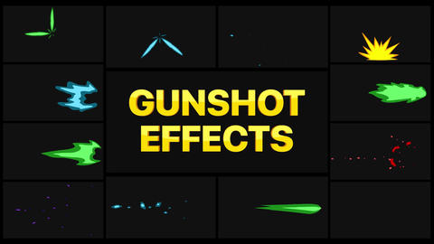 Gunshot Effects Apple Motion Template