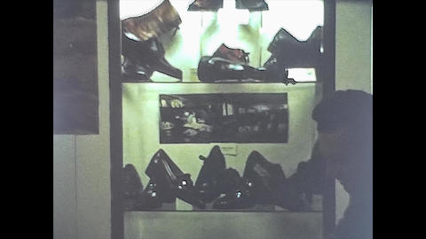 LONDON 1975: Footwear fair stand 8 Live Action