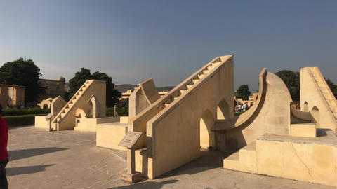 Jaipur, India - historic structures under the scorching sun Live Action